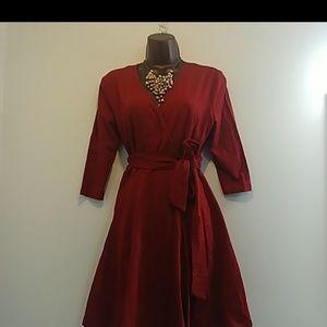 eshakti Wrap Cotton Dress